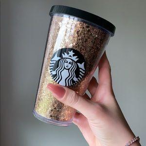 Starbucks Grande Gold Holiday Glitter